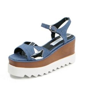 kami et muse Star patch platform heel sandals_KM17s209