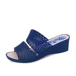 kami et muse Net pattern strap jelly wedge slippers_KM17s207