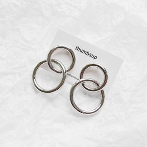 bold double ring earring