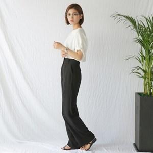 black formal wide pants