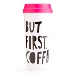 hot stuff thermal mug, but first, coffee