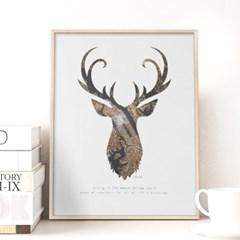 북유럽 갤러리액자 지도사슴 APB06