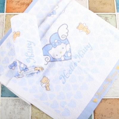 키티 천사나염수건(블루) 2099