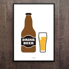 유니크 인테리어 디자인 포스터 M 드링크맥주