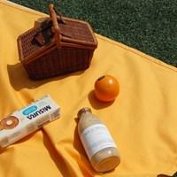 [파우치포함 ] 머스타드 /버터 피크닉매트