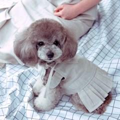 러브핫핏 x 무드므아 Apron long pleats linen dress(for pet)