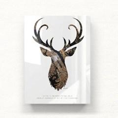 모던 북유럽 아크릴액자 지도사슴 APA06