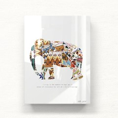 모던 북유럽 아크릴액자 모자이크 코끼리 APA03