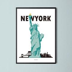 유니크 인테리어 디자인 포스터 M New York 뉴욕