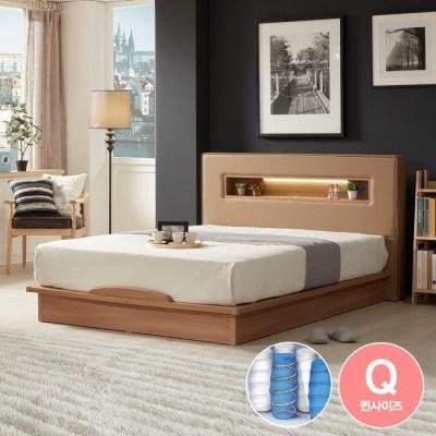 라보떼 리나 LED조명 PU가죽 평상형 침대 LN007 Q (독립스프링)