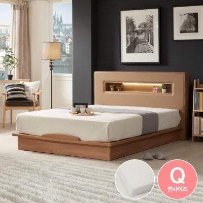 라보떼 리나 LED조명 PU가죽 평상형 침대 LN006 Q (본넬스프링)