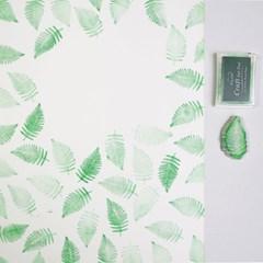 고무스탬프 패브릭포스터 양치식물