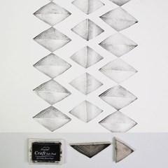 고무스탬프 패브릭포스터 빗살무늬 삼각형 2종