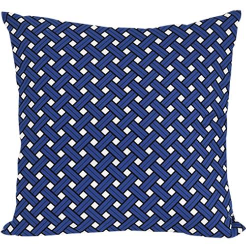 basket blue cushion