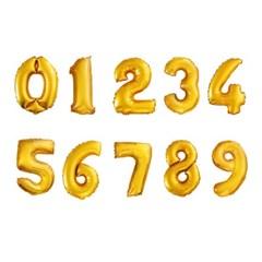 숫자포일풍선 골드 소(S)