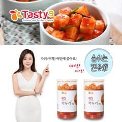 이보영의 테이스티나인 먹기편한 김치세트(깍두기1kg+깍두기1kg)