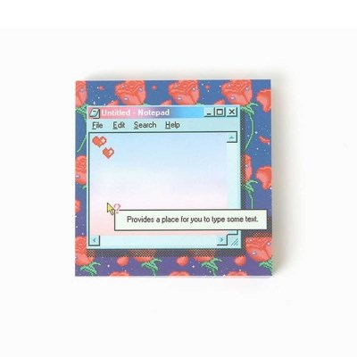 retro rose night memo pad