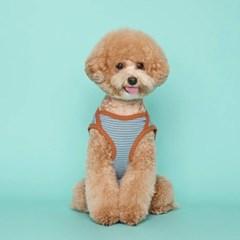 [플로트] 시그니쳐 강아지 민소매 티셔츠 - 프레쉬 스카이블루