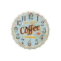ET 철재 커피 민트 벽시계_(484288)