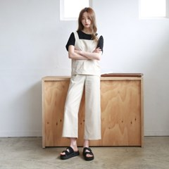 Linen bustier pants set