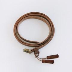 mini tassel thin leather belt