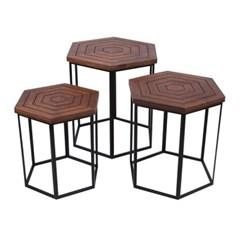 SH 육각사이드 테이블 3세트_(485719)