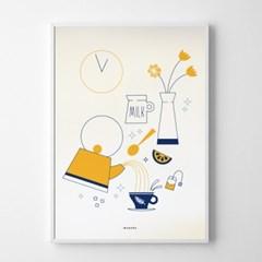 유니크 인테리어 디자인 포스터 M 12시57분