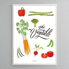 유니크 인테리어 디자인 포스터 M 베지터블