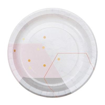 핑크마블 종이접시 L (10p)