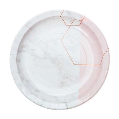 핑크마블 종이접시 S (10p)
