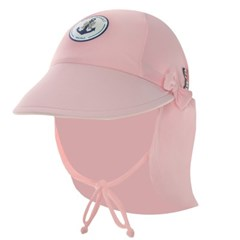 [엘리라후리프유] 자외선 차단 100% 썬캡 - 핑크