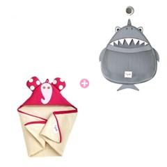 후드타월&목욕타월 + 욕실 장난감 정리함 - 디자인선택