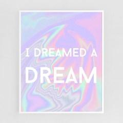 나는 꿈을 꾸었다[알루미늄 메탈 액자/4컬러]_(1596349)