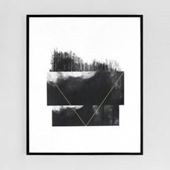 검정 나무들[알루미늄 메탈 액자/4컬러]_(1596343)