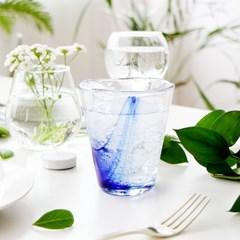 블루드로잉 유리컵 (265ml / 425ml)