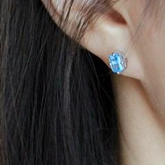 런던블루 토파즈 다이아 귀걸이 london blue topaz dia earring