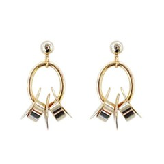 [Treaju]palm tree oval leave earring