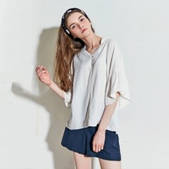 AIRY BUTTON BLOUSE (IVORY)