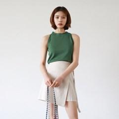 Halterneck knit sleeveless
