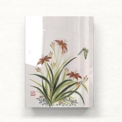 나비와 꽃들2 아크릴 일러스트 액자by하얀달(340067)