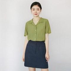 [마이블린] 슬럽 카라 반팔 셔츠 (3color)_(504871)