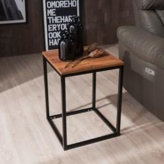 [채우리] 브런트 스틸 사각 사이드 테이블,협탁