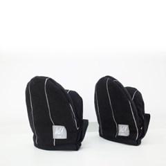 [pin stripe] mini gloves_black