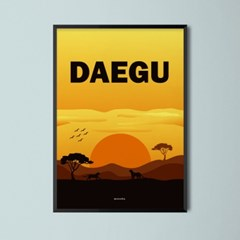 유니크 인테리어 디자인 포스터 M 대프리카 대구