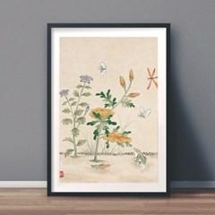 드라지꽃과 개구리 갤러리액자 by하얀달(334618)