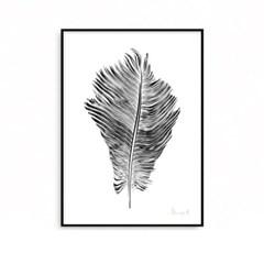 패브릭 포스터 인테리어 액자 깃털