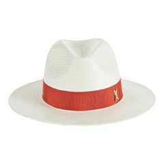 [바잘] Standard brim panama hat cream_orange