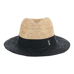 [바잘] Two tone panama hat black