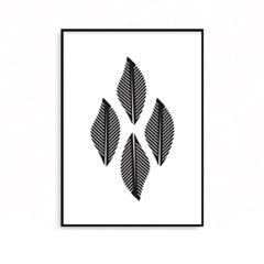 패브릭포스터 식물액자 스칸디나비아 LEAF