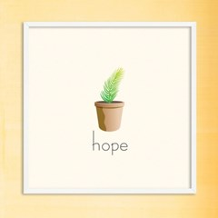 LP 메탈 액자 - hope